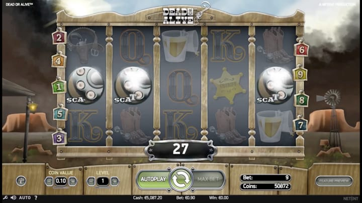 Play Dead or Alive Slot from NetEnt™ Official | RTP & Volatility Level