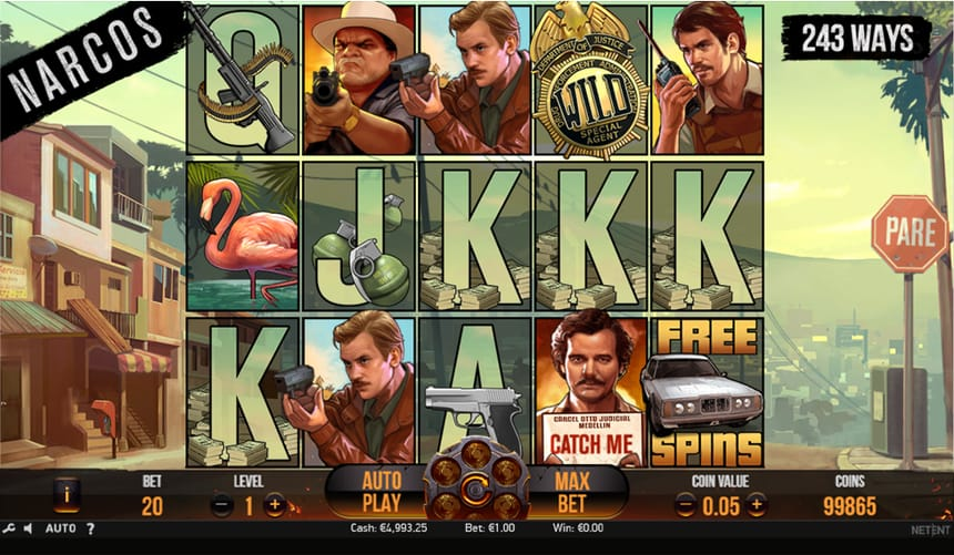 narcos slot layout
