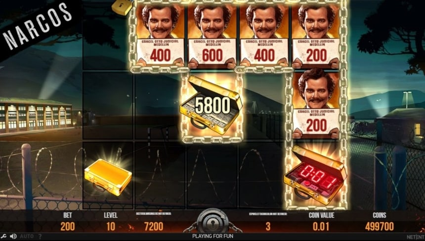 narcos slot lockup feature