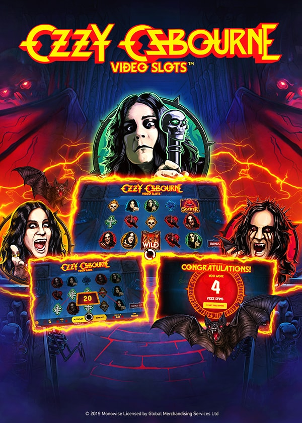 Try Ozzy Osbourne Video Slots Now!