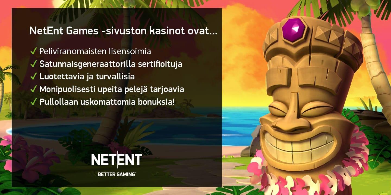 NetEnt-kasinoiden pelit