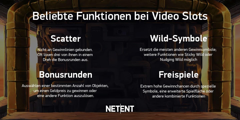 Funktionen bei Video Slots